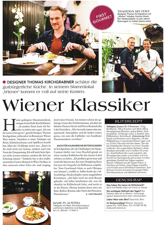 Restaurant Wiener - Pressecorner!